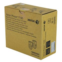 Xerox Phaser 7100 Toner Cartridge High Yield Black Pk 2 Ref 106R02605