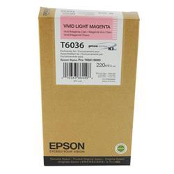 Epson T6036 Light Vivid Magenta High Yield Inkjet Cartridge For Stylus Pro 7800/9800 Ref C13T603600