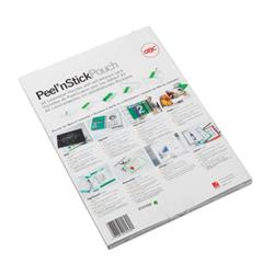 GBC Peel and Stick Laminating Pouch A3 Self-Adhesive Gloss 125 Micron Clear Pk 100 Ref 3747236