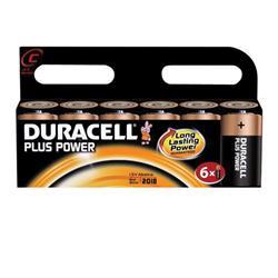 Duracell Plus Battery C Pk 6 Ref 81275434