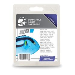 5 Star Office Remanufactured Inkjet Cartridge Page Life 325pp Cyan [Brother LC1100C Alternative]