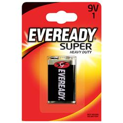 Eveready Super Heavy Duty Battery 9V (Pack of 1) Ref 6F22BIUP