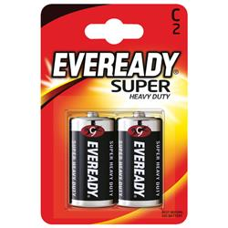 Eveready Super Heavy Duty C Batteries (Pack of 2) Ref R14B2UP