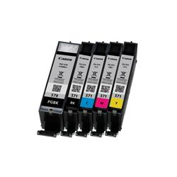 Canon Ref PGI-570/CLI-571 Ink Cartridge Pigment Black/Cyan/Magenta/Yellow/Black Pk 5 0372C004