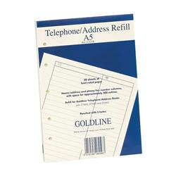 Goldline Address Book Refill Ruled Feint A5 Ref GA5/R