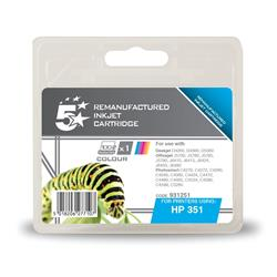 5 Star Office Remanufactured Inkjet Cartridge Page Life 170pp Colour [HP No. 351 CB337EE Alternative]