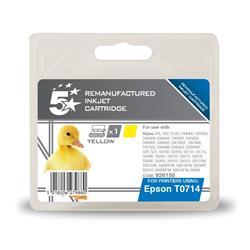 5 Star Office Remanufactured Inkjet Cartridge Yellow [Epson T071440 Alternative]