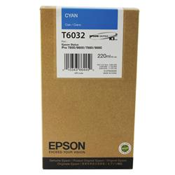 Epson T6032 Cyan High Yield Inkjet Cartridge For Stylus Pro 7800/9800 Ref C13T603200