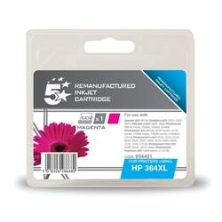 5 Star Office Remanufactured Inkjet Cartridge Page Life 750pp Magenta [HP No. 364XL CB324EE Alternative]