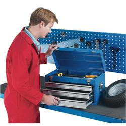 Tool Chest 3 Drawer Blue Ref 329228
