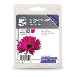 5 Star Office Remanufactured Inkjet Cartridge Page Life 1200pp Magenta [Brother LC1280XLM Alternative]