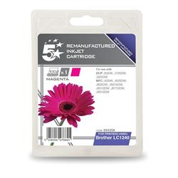 5 Star Office Remanufactured Inkjet Cartridge Page Life 600pp Magenta [Brother LC1240M Alternative]