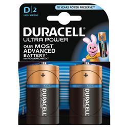 Duracell Ultra Battery Pk 2 D Ref 75051964