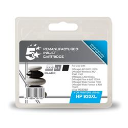 5 Star Office Remanufactured Inkjet Cartridge Page Life 1200pp Black [HP No. 920XL CD975AE Alternative]