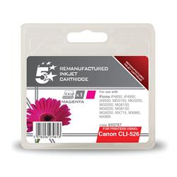 5 Star Office Remanufactured Inkjet Cartridge Page Life 545pp Magenta [Canon CLI-526M Alternative]