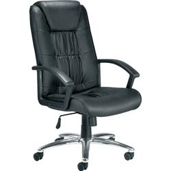 Jemini Tiber Leather Faced Executive Chair Black Ref KF74003