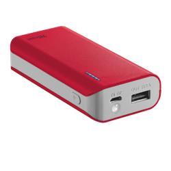 Caricatore Portatile Power Bank 4400 Trust - rosso