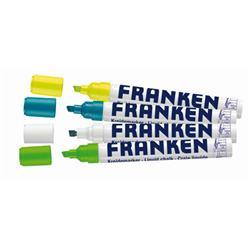 Franken Chalk Marker NEON, Line Width 2-5mm 4 Pieces Various Colours Ref ZKM L99