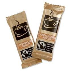 Fairtrade Coffee Biscuits Caramelised Individually-wrapped Portions Ref A03923 - Pack 300
