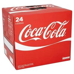Coca Cola Coke Soft Drink Can 330ml Ref 0402002 Pack 24