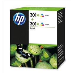 HP 301XL 2-Pack High Yield Tri-color Original Ink Cartridges (D8J46AE)