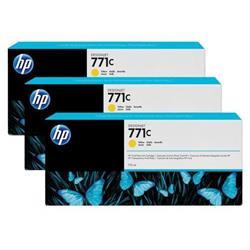 HP No. 771C Inkjet Cartridge Designjet 775ml Yellow Ref B6Y34A [Pack 3]
