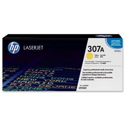Hewlett Packard HP No. 307A Laser Toner Cartridge Page Life 7300pp Yellow Ref CE742A