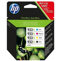 Hewlett Packard (HP) No.  932XL/933XL Inkjet Cartridge Combo Multi Pack CMYK Ref C2P42AE [Pack 4]