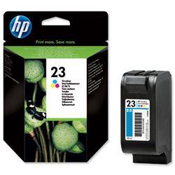 Hewlett Packard HP No. 23 Inkjet Cartridge Page Life 620pp 30ml Colour Ref C1823D