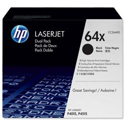 HP 64X 2-pack High Yield Black Original LaserJet Toner Cartridges (CC364XD) - Up to £100 Cashback
