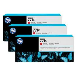 HP Chromatic Red 771C Designjet Ink Cartridge 775ml Pk 3 Ref B6Y32A