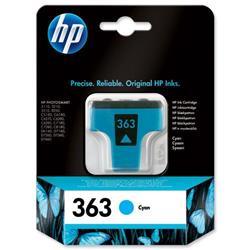 Hewlett Packard (HP) No. 363 Inkjet Cartridge Page Life 400pp 4ml Cyan Ref C8771EE #ABB