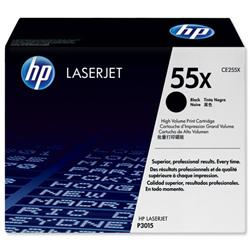 Hewlett Packard HP 55x High Capacity Black Laser Toner Cartridge for LaserJet P3015 Ref CE255X