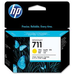 Hewlett Packard (HP) No. 711 Inkjet Cartridge 29ml Yellow Ref CZ136A [Pack 3]