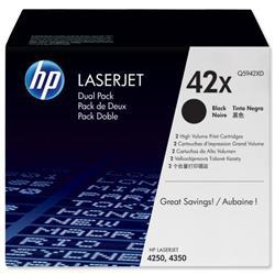 HP 42X 2-pack High Yield Black Original LaserJet Toner Cartridges (Q5942XD) - Up to £100 Cashback