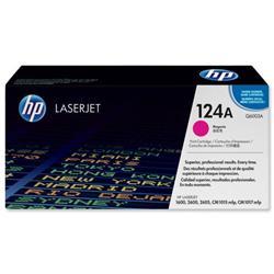 Hewlett Packard HP No. 124A Laser Toner Cartridge Page Life 2000pp Magenta Ref Q6003A