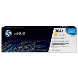 Hewlett Packard HP No. 304A Laser Toner Cartridge Page Life 2800pp Yellow Ref CC532A