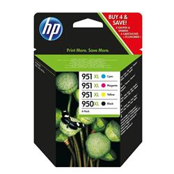 Hewlett Packard (HP) No.  950XL/951XL Inkjet Cartridge Combo Multi Pack CMYK Ref C2P43AE [Pack 4]