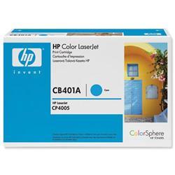 Hewlett Packard HP No. 642A Cyan Print Cartridge with ColorSphere Toner Ref CB401A