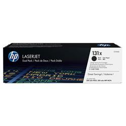 HP 131X 2-Pack High Yield Original LaserJet Toner Cartridges Ref CF210XD Pk1 Ref CF210XD