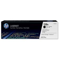 Hewlett Packard HP No. 128A Laser Toner Cartridge Page Life 2000pp Black Ref CE320AD - Pack 2