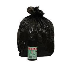 Sacchi immondizia - Rolsac - polietilene rigenerato - 50x60cm - 27 l - nero - conf. 20