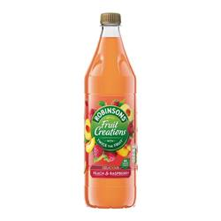 Robinsons Creation Squash No Added Sugar 1 Litre Peach & Raspberry Ref 962005 [Pack 12]