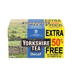 Yorkshire Tea Decaffeinated Ref 0403388 [Pack 120]