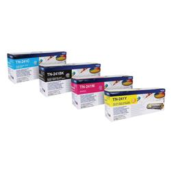 Brother TN241 Toner Cartridge Bundle Cyan/Magenta/Yellow/Black (4 Pack) BA810614