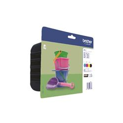 Brother LC221 Value Pack CMYK Ink Cartridge LC221VALBP