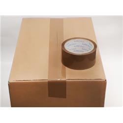 Packing Tape Buff BOPP 48mm 66m 45mu TBP486645 [Pack 6]