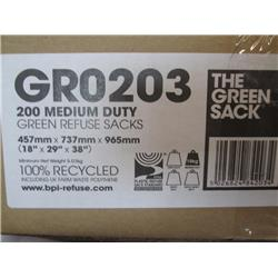 The green sack medium duty recycled green refuse sacks (200