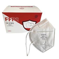 Mascherine monouso FFP2 - Certificazione CE - Conf. 20 - imbustate singolarmente