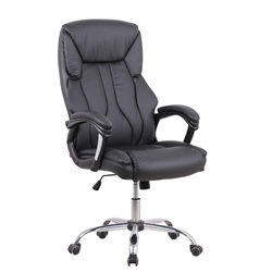 Stratford High Back Black Leather Look Chair